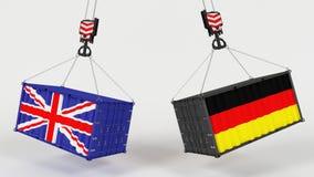 UK handlu import Tarrifs Zdjęcia Stock
