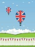 Uk hot air balloons Royalty Free Stock Images