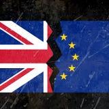UK i eu łamający chorągwiany pojęcie royalty ilustracja