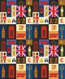 Uk icon set Royalty Free Stock Photography