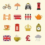 Uk icon set Stock Images