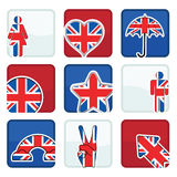 Uk icons Royalty Free Stock Image
