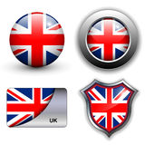 Uk icons Stock Image