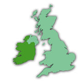 Uk and Ireland abstract stock illustration