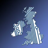 UK and Ireland map outline Royalty Free Stock Photography