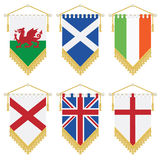 Uk and ireland pennants Stock Photo