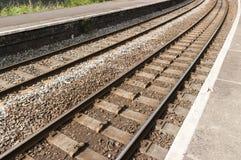 UK-järnväg/järnväg Arkivfoto