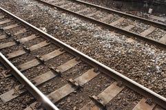 UK-järnväg/järnväg Royaltyfri Foto