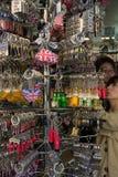 UK-Keyringsouvenir för den turist- handeln Royaltyfri Foto