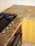 UK Kitchen Units with hob Royalty Free Stock Photos