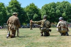 UK-krigsmakt tillbringar veckoslutet berömmar Trowbridge 2018 Wiltshire arkivbild
