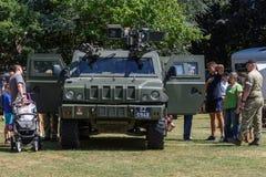 UK-krigsmakt tillbringar veckoslutet berömmar Trowbridge 2018 Wiltshire royaltyfria foton