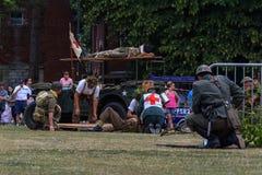 UK-krigsmakt tillbringar veckoslutet berömmar Trowbridge 2018 Wiltshire royaltyfri fotografi