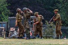 UK-krigsmakt tillbringar veckoslutet berömmar Trowbridge 2018 Wiltshire royaltyfri foto