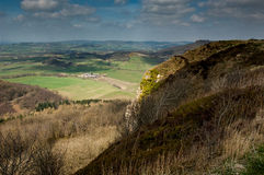 UK landscape crags and farmland Royalty Free Stock Photo