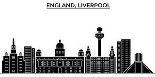 Uk. Liverpool architecture vector city skyline, travel cityscape with landmarks, buildings, isolated sights on royalty free illustration