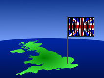 UK with London flag Royalty Free Stock Photography