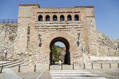 Łuk lub St. Stephen brama Burgos, Hiszpania Fotografia Royalty Free