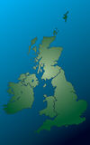 Uk map Stock Image