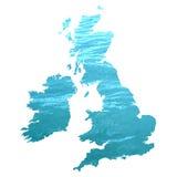 UK Map Royalty Free Stock Photo