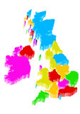 Uk map Royalty Free Stock Images