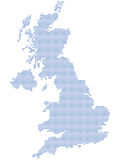 UK map dots Stock Photography