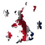 UK map flag jigsaw Stock Images