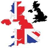 UK map flag. On a white background. Vector illustrator vector illustration