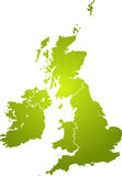 Uk map green Royalty Free Stock Photo