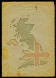 UK map on old paper I Stock Photography