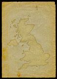 UK map on old paper II Stock Photography