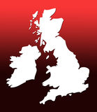 UK map over red Royalty Free Stock Photo