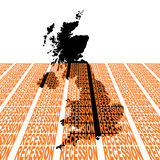 Uk map with recession text Stock Photos