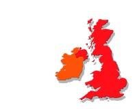 UK map on white vector illustration
