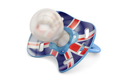 UK Maternity and birthrate in Great Britain concept, 3D. Rendering on white background Royalty Free Stock Photo