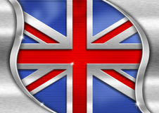 UK Metal Flag Royalty Free Stock Photo