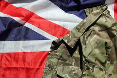UK military and Union flag Stock Images