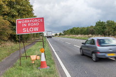 UK Motorway Services Road Sign Royalty Free Stock Photography