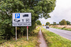 UK Motorway Services Road Sign Stock Photography
