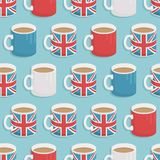 Uk mug pattern Royalty Free Stock Image