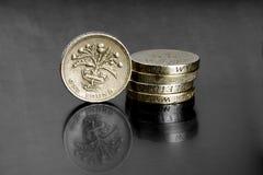 UK-mynt Arkivfoto