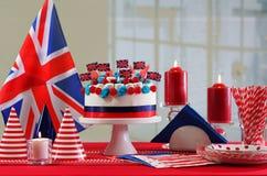 UK National holiday celebration party table Royalty Free Stock Images