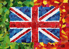 UK-nationsflagga Arkivbild