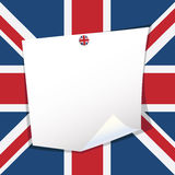 Uk note paper Royalty Free Stock Photo