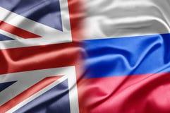UK och Ryssland Arkivfoto