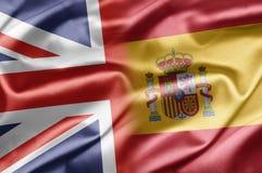 UK och Spanien Arkivfoton