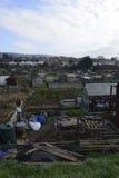 UK-odlingslottar som visar socialt hus Royaltyfri Foto