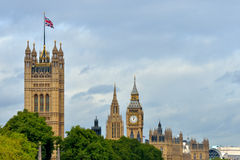 UK parliament flying flag Stock Photography