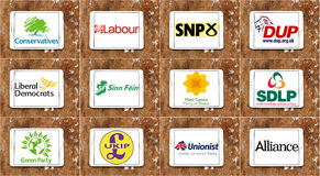 UK parliamentary political party logos and icons stock illustration