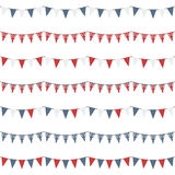 Uk party bunting Stock Photos